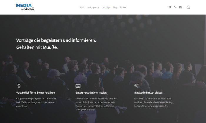 Bild von der Webseite mitmuusse.de