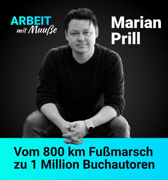 """Ghostwriter, Journalist und Plattformbetreiber Marian Prill im Podcast """"Arbeit mit Muuße"""" mit Philipp Muuß aus Lübeck"""